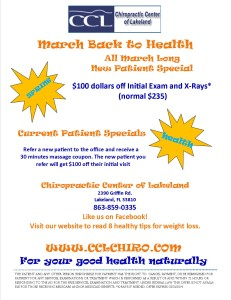 March Back to Health | Chiropractic Center of Lakeland | Best Chiropractor in Lakeland, FL